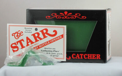 Plastic Cap Catcher Starr Standard LIGHT GREEN COMBO Wall Mount Bottle Opener