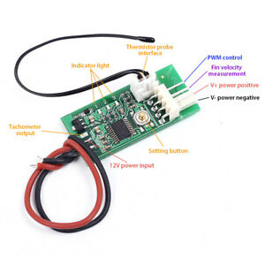 pwm 4 wires fan temperature controller speed governor dc