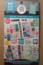 "NEW! me & my big ideas create 365 ""QUOTES"" Value Pack Stickers"