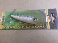 Custom Painted Bass Pro Shops Tourney Special Pop N Splash Popper,blue Herring
