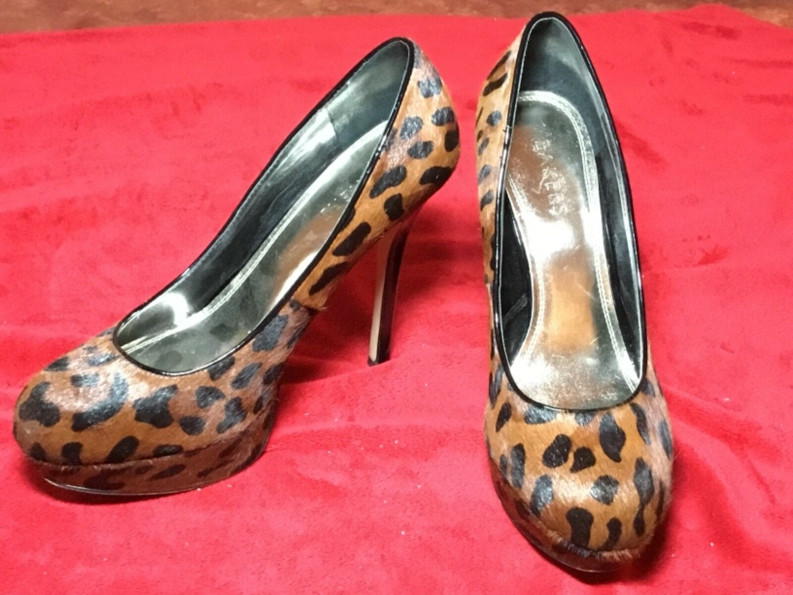 "Womens Bakers Melinaleop Leopard Print Size Shoes 10M 5"" High Heel Shoes Size d165c4"