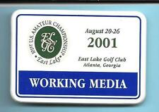 2001 US Amateur Golf Championship Media/Press Badge Bubba Dickerson Winner