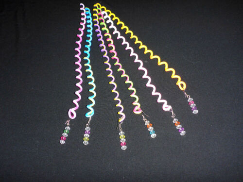 3 Pieces Girls Spiral Hair Decor Curling Braiding Accessory Fun Summer Colours