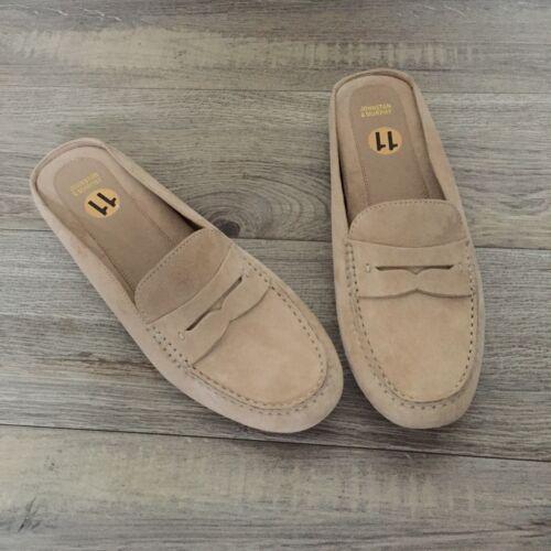 Johnston /& Murphy Myah Beige Suede Mule Loafers Women/'s Size 11 B//M NEW