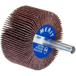"25000 RPM Box of 10 Merit Mandrel  Grit 180 Grind Abrasive Flap Wheel 2/"" D 1/"" W"