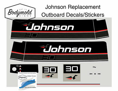 Johnson 70hp Replacement Outboard Decals//stickers