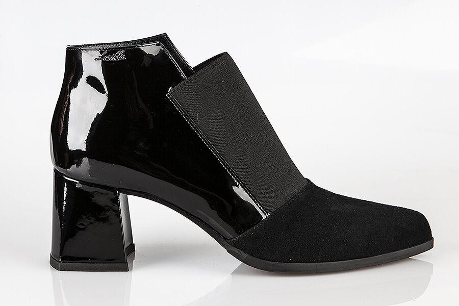 Auténtico loriazul loriazul loriazul Gamuza diseñador italiano Colección Zapatos Negros Tallas 6,7,8,9,11