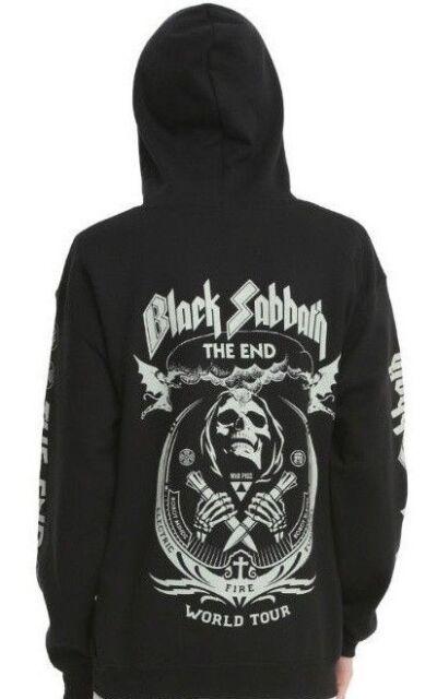 fd6e5ed64b Black Sabbath THE END WORLD TOUR Zip Up Hoodie Sweatshirt NEW 100% Authentic