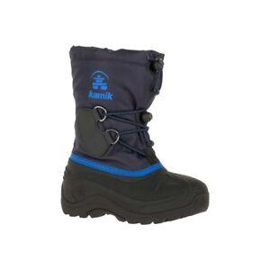 DéTerminé Kamik Southpole 4 Enfants Bottes D'hiver Boots Bottes Chaussures Navy Nk4727-nav-afficher Le Titre D'origine
