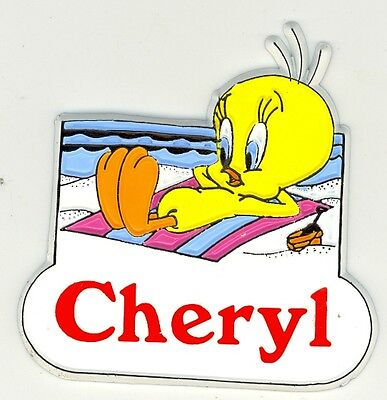 Tweety Bird Name Magnet ~ Candice ~ Looney Tunes Collectible ~ Stocking Stuffer
