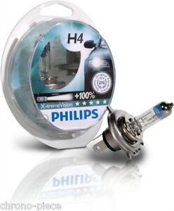 promo 2 ampoules h4 philips x treme vision 100 remplace x treme power xtrem ebay. Black Bedroom Furniture Sets. Home Design Ideas