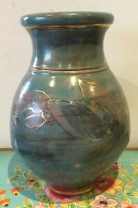 Stunning-Vintage-Pottery-Vase-Signed