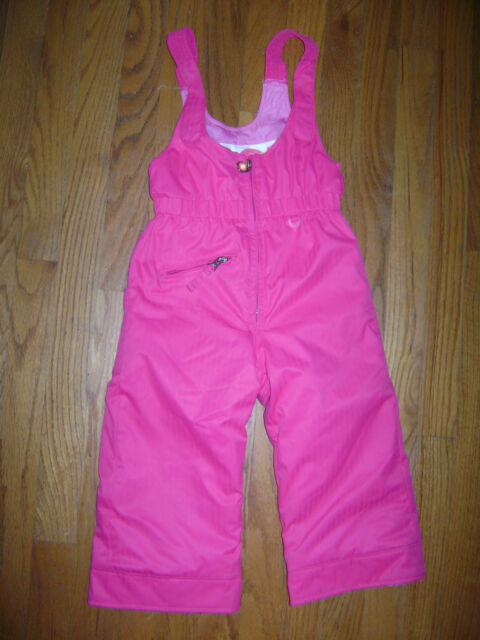 4dbdc87fe981 OBERMEYER GIRLS WINTER WARM SKI SNOW SNOVERALL BIB Pants Size 3 PINK ...
