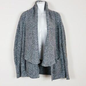 e4677e3ea490 J Crew Womens Cardigan Sz XS Gray Open Pockets Chunky Knit Sweater ...