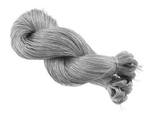 100M de perlas de macrame de cable hilo hilos plata 0,8 mm poliéster joyería C60 #2