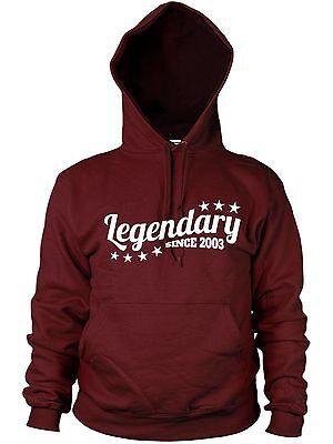 Aufstrebend Legendary Since 2003 Hoodie Birthday Gift Kids Legend Child Present Men Women