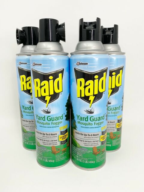 4 - Raid YARD GUARD Insecticide MOSQUITO FOGGER Flies Ants ...