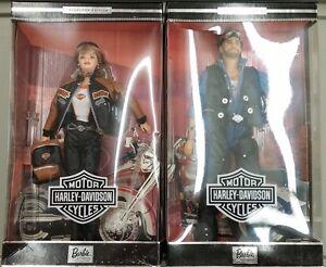 Harley-Davidson Barbie 25637 & Ken #2 SET Actual Photos!! New in Box!!!