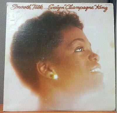 EVELYN CHAMPAGNE KING smooth talk LP VG APL1-2466 USA 1977 2nd Cover Var