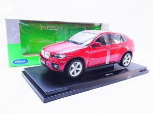 58037-Welly-18031W-BMW-X6-SW-E71-Modellauto-2008-2014-rot-1-18-NEU-in-OVP