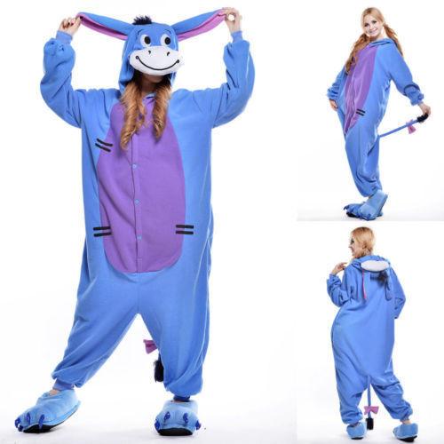 Unisex Adult Winnie The Pooh Flannel Onesie023 Cosplay Costume Kigurumi Pajamas*