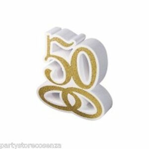 Coordinato Tavola Anniversario Di Matrimonio 50 Anni Nozze D Oro