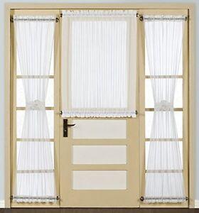 United Curtain Batiste Semi Sheer Door Curtain Panel 54 By 45 Inch White New Ebay
