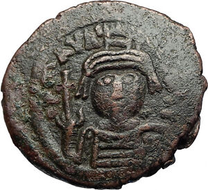 MAURICE-TIBERIUS-582AD-Cyzicus-Follis-Authentic-Ancient-Byzantine-Coin-i71272