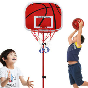Children Portable Basketball Hoop Stand Backboard Sports Kid Play Game Toys NEW