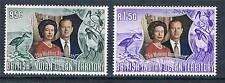 British Indian Ocean Territory 1972 Silver Wedding SG45/6 MNH