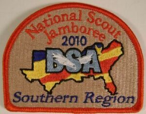 2-Set-Lot-Boy-Scout-Official-2010-National-Jamboree-Southern-Region-Emblem-Patch