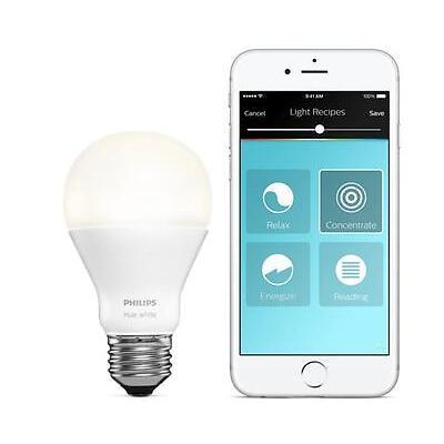 Philips Hue White Extension Wireless Bulb E27 9.5W 806 lumen Smartphone Control
