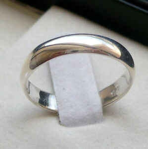 4mm 925 STERLING SILVER MEN S WOMEN S WEDDING BAND RING SIZE 5-13 ... 431c88d040