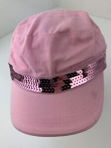 Limited Too Pink Sequin Fitted Girls M/L Ball Cap Hat