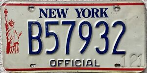 GENUINE-New-York-Statue-of-Liberty-OFFICIAL-License-Number-Plate-Tag-B57932