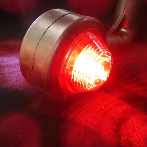 2x LED Begrenzungsleuchte rot-weiß Lichtleittechnik 24V E-Prüfzeichen 0084