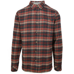 O-039-neill-Men-039-s-Red-Redmond-Plaid-L-S-Flannel-Shirt-Retail-60