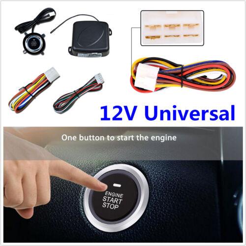 Universal 4Pcs 12V Car Alarm Start Security System Keyless Entry Push Button Kit