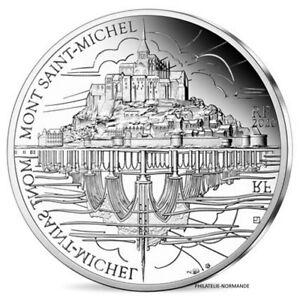 FRANCE-10-EURO-B-EPREUVE-ARGENT-MONT-SAINT-MICHEL-2020-UNESCO-3000-EX-RARE