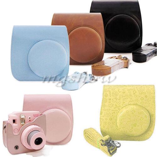 Leather Camera Case Shoulder Bag Cover For Fuji Fujifilm Instax Mini 8S Mini 8