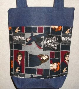 Harry Potter-Black /& Teal Tote Bag-Machine Quilted-Hand Made