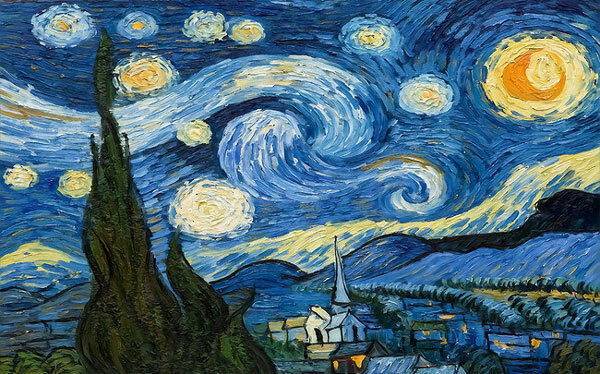 Van Gogh Starry Night 3D Full Wall Mural Photo Wallpaper Print Paper Home Decor