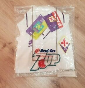 BNWT-DEADSTOCK-FIORENTINA-1992-1993-7UP-AWAY-FOOTBALL-SHIRT-LOTTO-VINTAGE-SIZE-M
