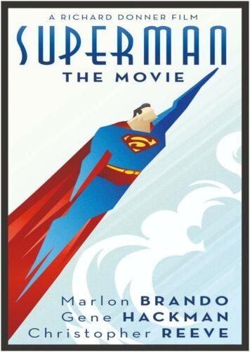 Superman Art Deco Large Poster Art Print Maxi A0 A1 A2 A3 A4