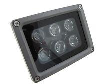 6LED 850nm IR Infrared LED Light For night verison camera security 60D 12VDC