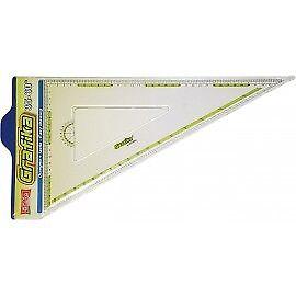 Squadra FARA Design cm 35-45° 60° serie Grafika TRASPARENTE ADATTA PER MANCINI