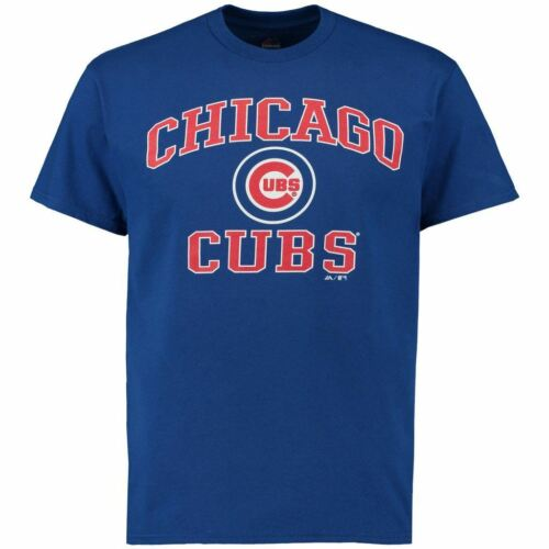 Chicago Cubs T-Shirt Men/'s Heart And Soul III Majestic MLB Blue