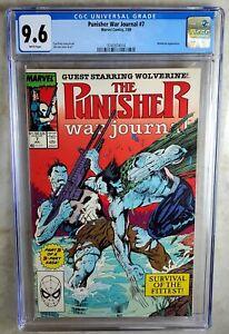 Punisher War Journal #7 Wolverine Marvel 1989 CGC 9.6 NM+ WPages Comic Q0121
