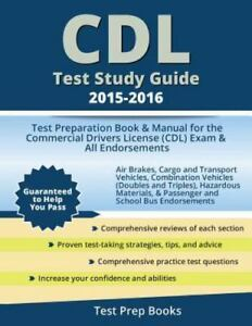cdl test study guide 2015 2016 test preparation book and manual rh ebay com cdl test study guide for louisiana cdl test study guide for louisiana