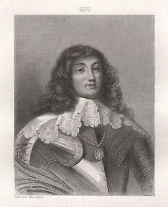 Portrait-Charles-Louis-Duke-Bavaria-Comte-Palatine-of-Rhine-Engraving-Xixth